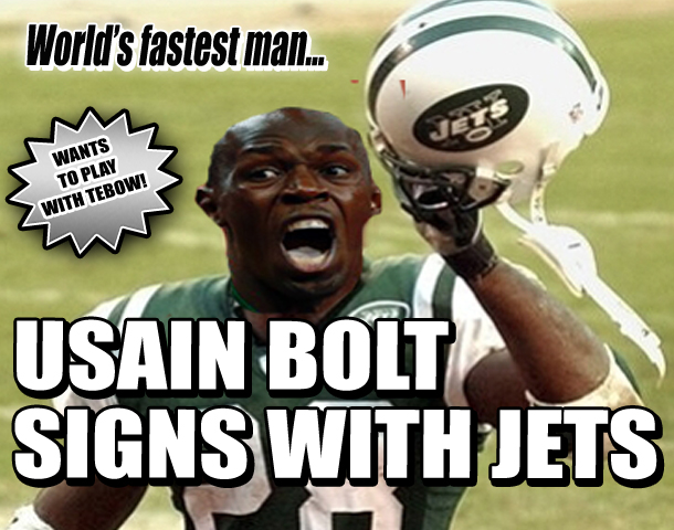 USAIN BOLT SIGNS WITH NEW YORK JETS - Weekly World News